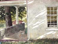 Painting by Eddie Flotte: Kuerner's Kitchen window
