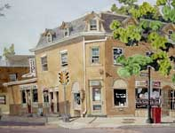 Painting by Eddie Flotte: McDermott and Sons Shoe Repair