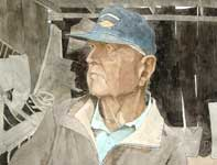 Painting by Eddie Flotte: Mr Kuerner Remembers Andrew Wyeth