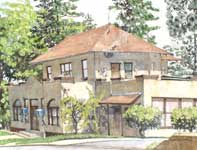 Painting by Eddie Flotte: Offices at Paia Mill