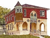 Painting by Eddie Flotte: Old Whitpain School