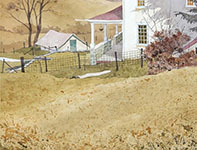 Painting by Eddie Flotte: Orchard Hill