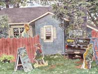 Painting by Eddie Flotte: Our House