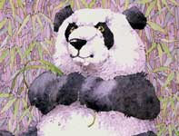 Painting by Eddie Flotte: Panda Bear
