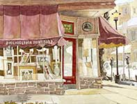 Painting by Eddie Flotte: Philadelphia Print Shop