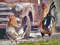 Painting by Eddie Flotte: Pick Up