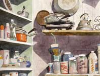 Painting by Eddie Flotte: Pots, Pans, and Pigments