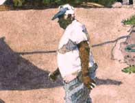 Painting by Eddie Flotte: Rene on a Mission