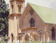 Painting by Eddie Flotte: Saint Joseph's Church