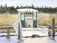 Painting by Eddie Flotte: Sandy's Boat