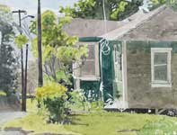 Painting by Eddie Flotte: Sherman's Yard