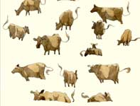 Painting by Eddie Flotte: Sketches of Cows