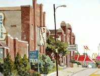 Painting by Eddie Flotte: Sons of Italy Ambler