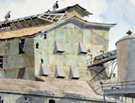 Painting by Eddie Flotte: Square Mill