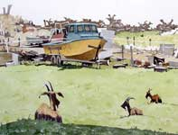 Painting by Eddie Flotte: Still A Goat