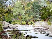 Painting by Eddie Flotte: Stormy's Dam