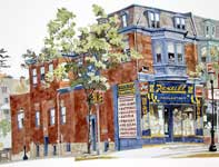 Painting by Eddie Flotte: Sunray Drugs Ambler