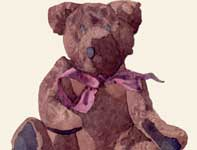 Painting by Eddie Flotte: Teddy Bear