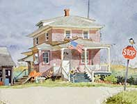 Painting by Eddie Flotte: The Bateman House