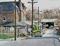 Painting by Eddie Flotte: The Bottom of Main Street