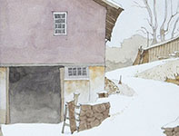 Painting by Eddie Flotte: The Quiet of New Snow