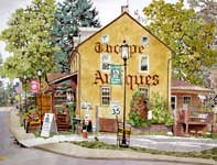 Painting by Eddie Flotte: Thorpe Antiques Skippack, PA