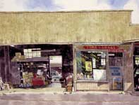 Painting by Eddie Flotte: Toma Garage