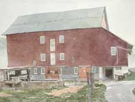 Painting by Eddie Flotte: Up The Driveway To Kuerner's Barn