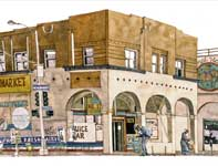 Painting by Eddie Flotte: Venice Beach Health Food Store