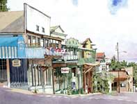 Painting by Eddie Flotte: Vineyard Street