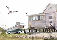 Painting by Eddie Flotte: Whale Creek